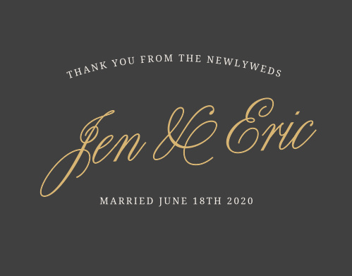 Express your gratitude to family and friends with the Modern Forever Foil Thank You Card. Completely customizable, too!