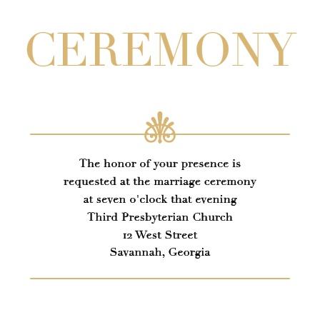 Glamorous Standard Foil Ceremony Cards
