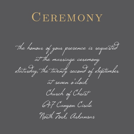 The Illustrated Rose Foil Ceremony Cards are the perfect way to invite the most important guests to be at your wedding ceremony.