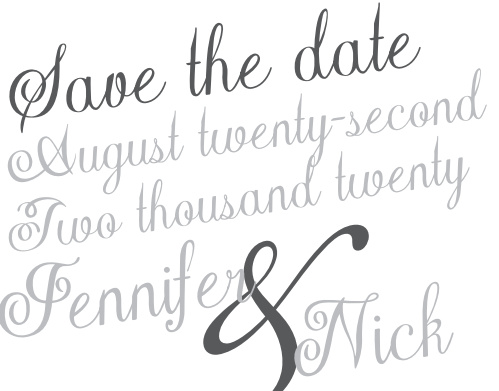 The Plain Elegance Foil save the date magnet has super cute text and a fun feeling. As always, you can change the colors and fonts in order to match your wedding scheme. Personalize the card and see your modifications instantly!