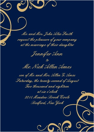 Your invitation is one of the first impressions of your big day and The Simple Swirls Foil Invitation offers simple grace and beauty in design. Your guests will be anxious to attend your big day.