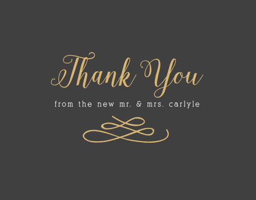 Don't forget to say thank you to your guests for coming to celebrate your big day!