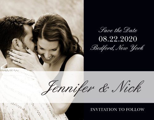 Let your love shine through to all your guests with the beautiful The Forever Chic photo save-the-date card. Keep things simple with this beautiful modern design that makes your photo the focal point of your announcement.