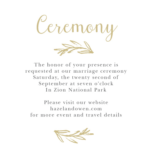 The Delicate Laurel Foil Cards are the perfect way to invite the most important guests to be at your wedding ceremony.