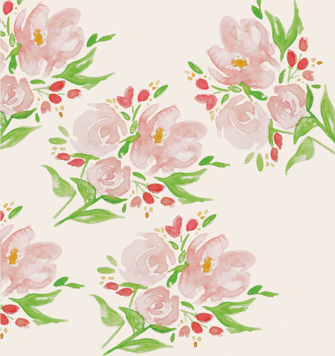 The Watercolor Blooms Liner is a beautiful way to add a little elegance and flair to your envelope!