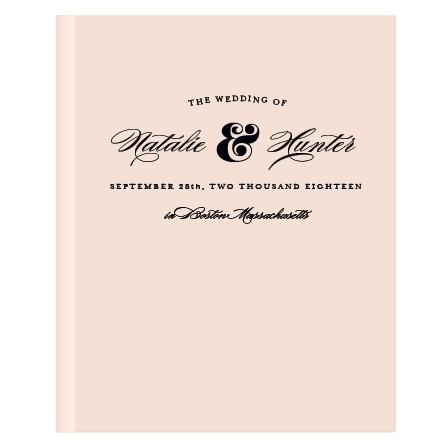 Your big day will go by too fast, don't forget who was at your wedding! The Ampersand Guest Book is designed to match the Ampersand wedding suite, either the normal or foil version, but you can customize it to match any wedding invitation suite!