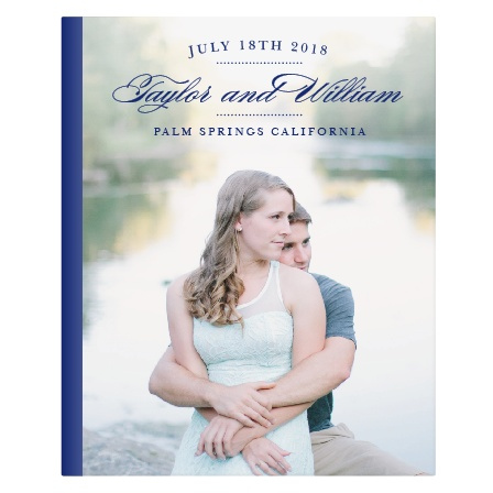 What better way to delight your guests then a photo of you and your significant other at the center of your guest book? Your beautiful photo paired with the clean font will keep things simple yet significant. Your guest book is sure to stand out from the rest!