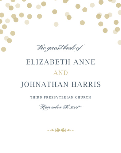 The Glamorous Standard Guest Books are the perfect fit for any spring or summer or winter wedding with the title of the book and new style creating a beautiful typographic layout.