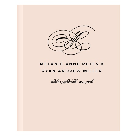 Charmed Monogram Guest Book