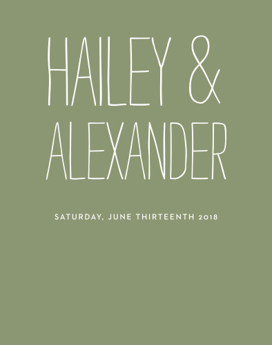 Bold contrast and whimsical font choices make the Rustic Type Guest Book a fun design full of life. Let your personality stand out as you tailor this book's color and type to your one-of-a-kind event.