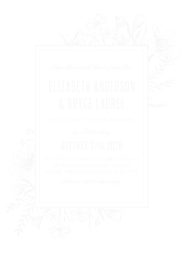floral border wood wedding invitations - Wood Wedding Invitations