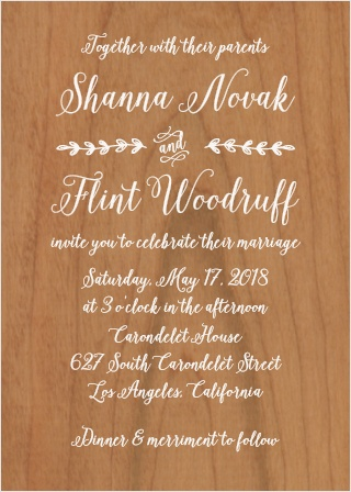 Stay true to your home roots with the gorgeous look of the Rustic Country Wedding Invitation!