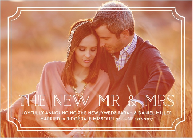 Type Frame Wedding Announcement