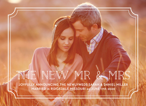 Type Frame Wedding Announcement adds a touch of modern elegance to your big news!