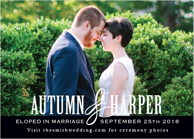 Antique Elegance Wedding Announcement is a simple yet tasteful way to share your wedding day with all of your friends and family.