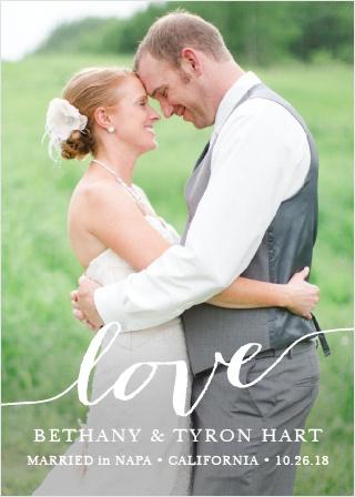 Love Script Wedding Announcement