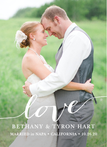 Love Script Wedding Announcement