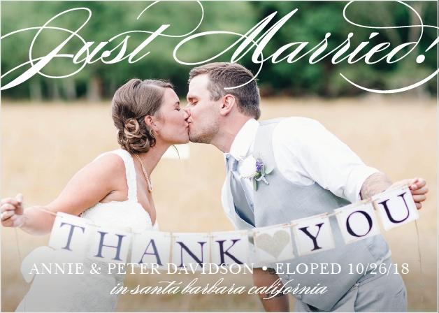 Many Thanks Wedding Announcement