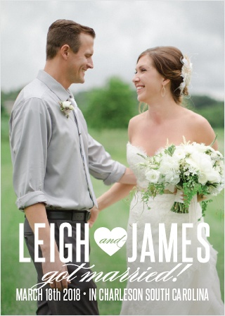 New Love Wedding Announcement is an elegant and fun way to share the news of your marriage.
