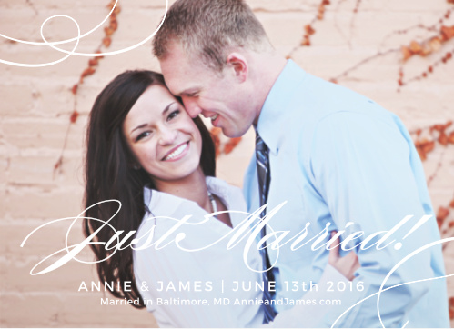 Simplicity Wedding Announcement is a simply elegant way to let your friends and family know you tied the knot.