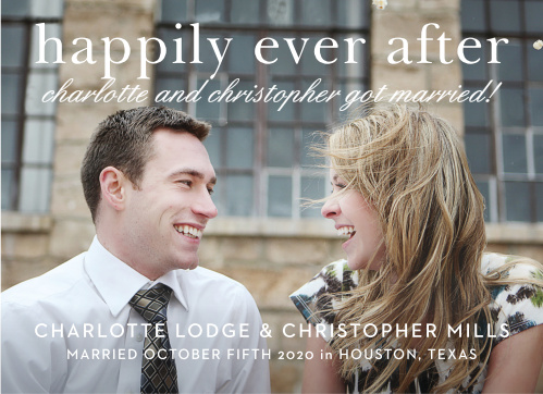 Sophisticated Typography Wedding Announcement is all about you and your love!