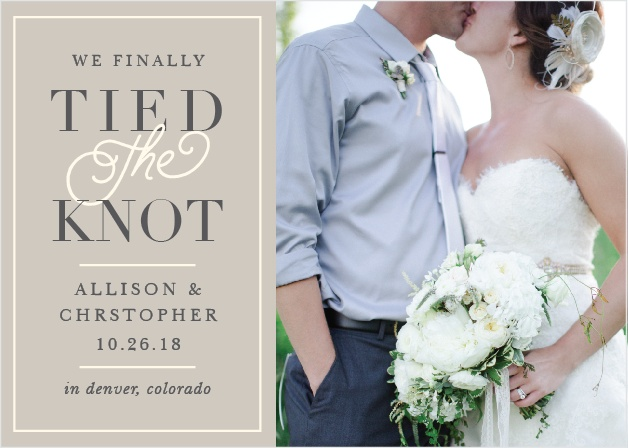 Classic Border Wedding Announcement