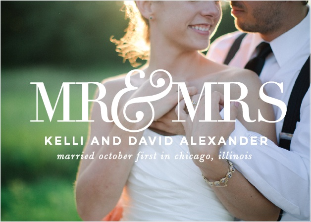 The Two Of Us Wedding Announcement