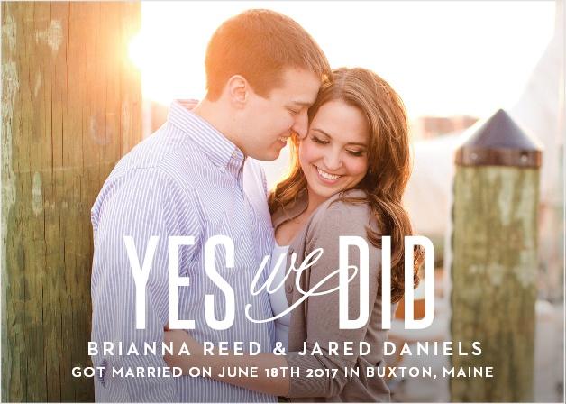Traditional Script Wedding Announcement