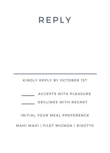 Wedding RSVP Cards Match Your Color Style Free Basic Invite - Rsvp card template