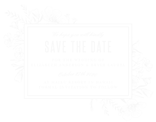 The Floral Border Wood Save-the-Date Cards are a sweet and beautiful way to let your family and friends know you will be getting married.