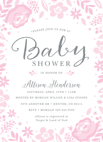 Invite your loved ones to share in the joy with the Baby Blooms Baby Shower Invitation!