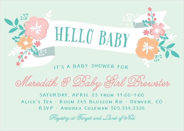 Give baby a warm welcome with the Hello Baby Shower Invitations!
