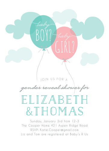 The Gender Reveal Baby Shower Invitations are perfect if you've been waiting to tell your friends and family whether you're are having a little boy or a little girl!