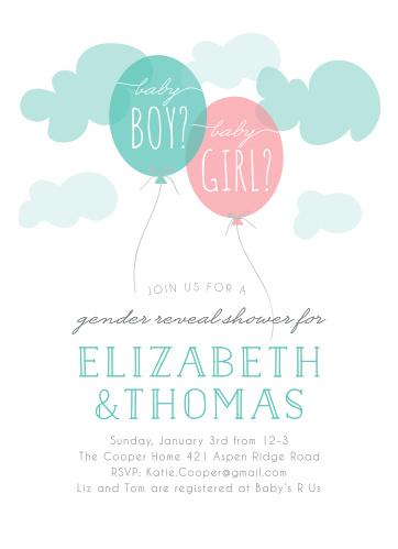 Gender reveal baby shower invitations match your color style free gender reveal baby shower invitations filmwisefo