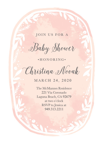 The Delicate Wreath Baby Shower Invitations are a sweet and feminine invite for any mother-to-be!