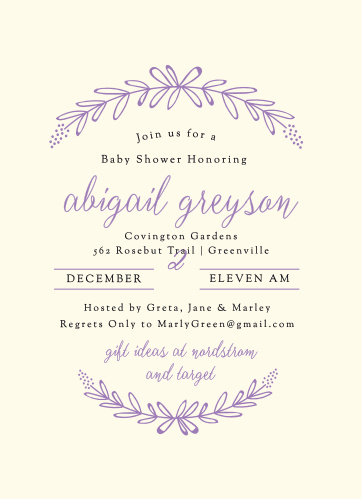 Spring baby shower invitations match your color style free garden wreath baby shower invitations filmwisefo