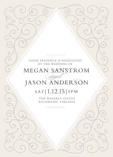 If you love the elegant class of flourishes and swirls then the Swirl Frame Invitations are perfect for you.
