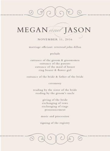 wdding programs classy type foil pressed wedding programs by