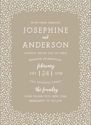 The Confetti Dots Wedding Invitations are sure to impress your guests.