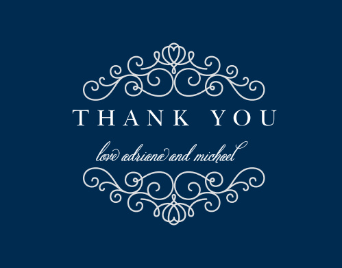 Express your gratitude to family and friends with the Royal Scrolls Thank You Card.