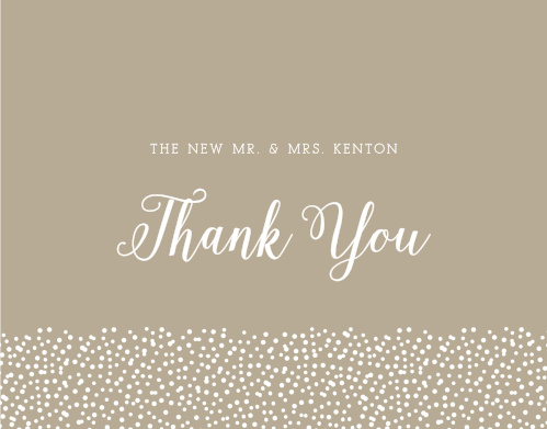 The Confetti Dots Thank You Cards uses beautiful fonts to show your gratitude.