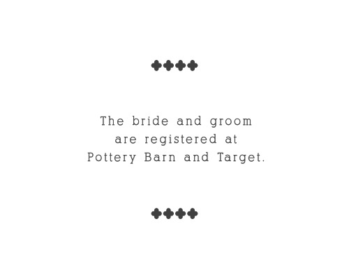 Simplicity is the ultimate sophistication and that proves true with the Whimsical Calligraphy Registry cards.