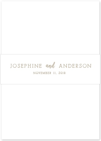 The simple and beautiful Confetti Dots Belly Bands give your pocket invitation an elegant touch.