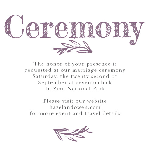 The Delicate Laurel Ceremony Cards are the perfect way to invite the most important guests to your wedding ceremony.