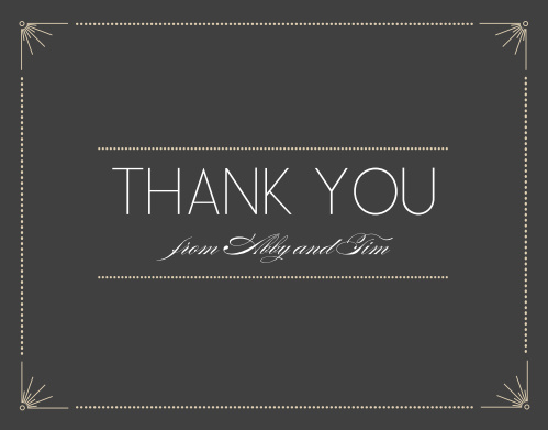 The Stylized Sunbursts Thank You Cards are the perfect way to say