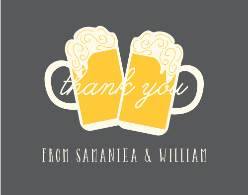 Show your guests gratitude with the illustrated Baby Brewing Baby Shower Thank You Cards!