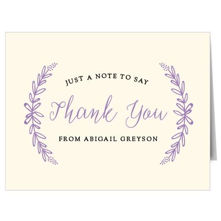 Garden Wreath Thank You Cards