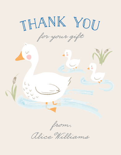 Let your guests know how grateful you are with the Twin Ducks Thank You Card!