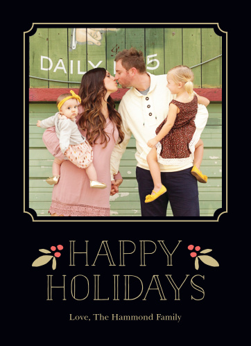 Dazzle friends and family this year with the Festively Framed Foil Holiday Cards.