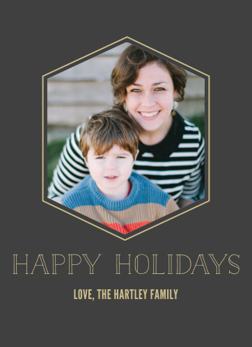 'Tis the season to be merry and contemporary with the Geometric Greetings Foil Holiday Cards.
